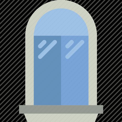 appliance, furniture, household, wardrobe, window icon