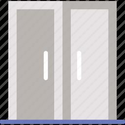 appliance, door, double, furniture, household, wardrobe icon