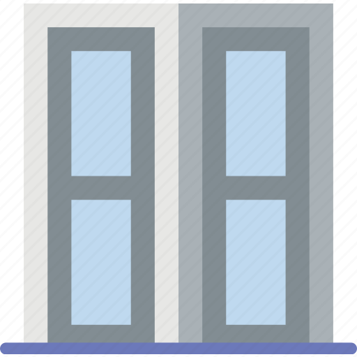 appliance, door, double, furniture, household, wardrobe icon