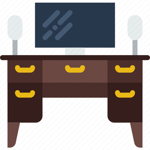 appliance, desk, furniture, household, wardrobe, working icon