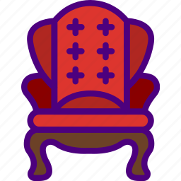 appliance, chair, furniture, household, vintage, wardrobe icon