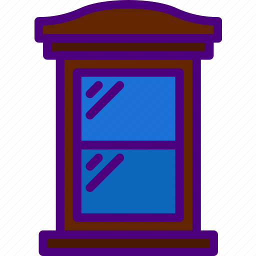 appliance, furniture, household, wardrobe, window icon