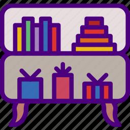 appliance, bookshelf, furniture, household, wardrobe icon