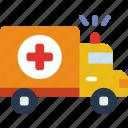 ambulance, anatomy, doctor, hospital, medical icon