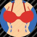 anatomy, doctor, hospital, liposuction, medical icon