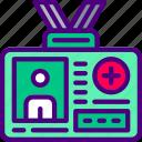 anatomy, badge, doctor, hospital, medical icon