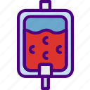 anatomy, blood, doctor, hospital, medical, transfusion icon