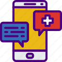 anatomy, conversation, doctor, hospital, medical icon