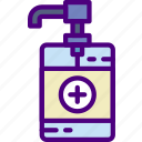 anatomy, doctor, hand, hospital, medical, sanitizer icon