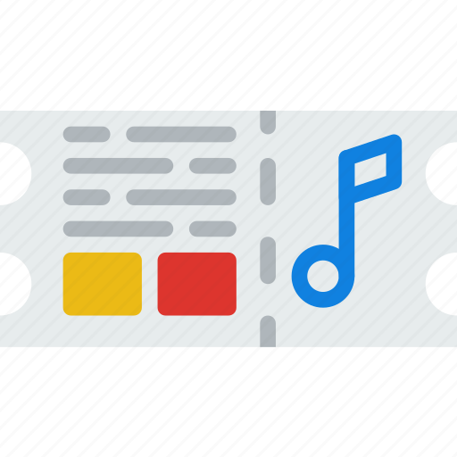 concert, music, sing, song, sound, ticket icon