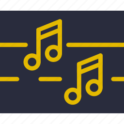 music, musical, notes, sing, song, sound icon