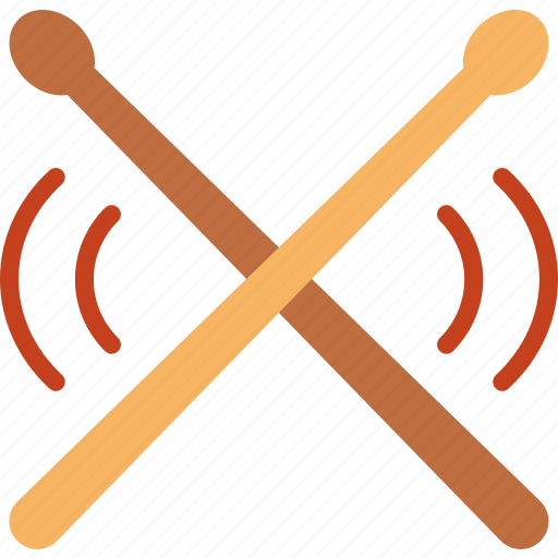 drumsticks, music, sing, song, sound icon