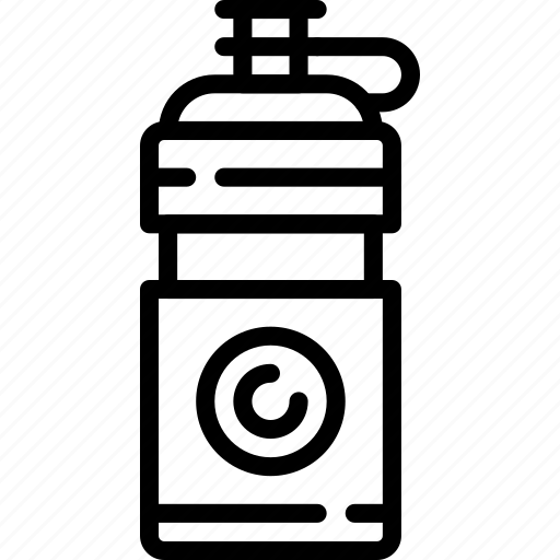 athletic, bottle, fitness, health, sport, water icon