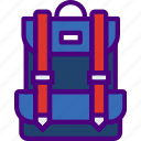 athletic, backpack, fitness, health, sport icon