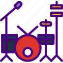drum, music, set, sing, song, sound icon