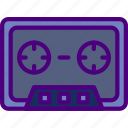 cassette, music, sing, song, sound icon