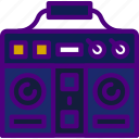 boombox, music, sing, song, sound icon
