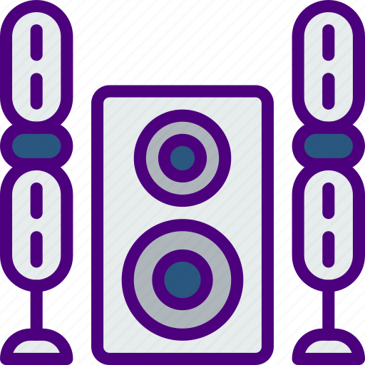 music, sing, song, sound, speakers icon