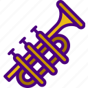 music, sing, song, sound, trumpet icon