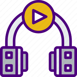 headphones, music, play, sing, song, sound icon
