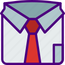 corporate, job, office, shirt, work icon