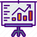 corporate, financial, job, office, presentation, work icon