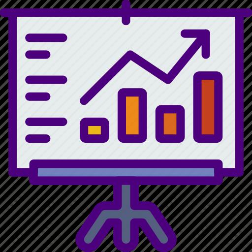 corporate, financial, job, office, presentation, work icon