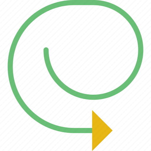arrow, closed, cycle, direction, location, orientation icon