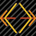 arrow, direction, horizontal, location, orientation, slider icon