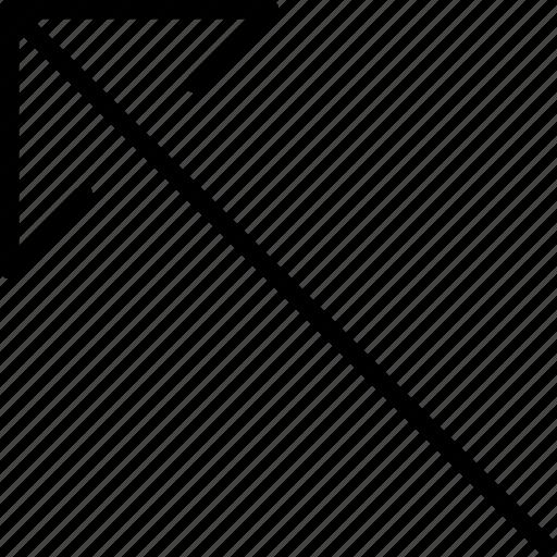 arrow, direction, left, location, orientation, top icon