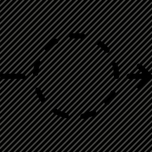 arrow, direction, drag, location, object, orientation icon