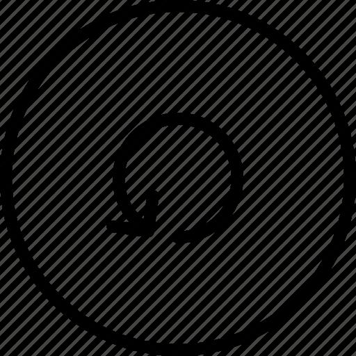 arrow, direction, location, orientation, rotate icon