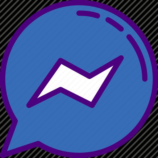 facebook, instagram, media, messenger, social icon