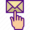 click, email, media, social