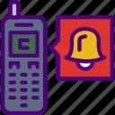alarm, media, phone, social