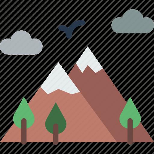 holiday, mountainside, seaside, travel, vacation icon
