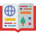book, guide, holiday, seaside, travel, vacation icon