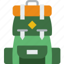 backpack, holiday, seaside, travel, vacation icon