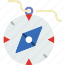 compass, holiday, seaside, travel, vacation icon