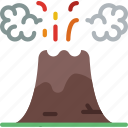 holiday, seaside, travel, vacation, volcano icon