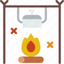 campfire, holiday, seaside, travel, vacation icon