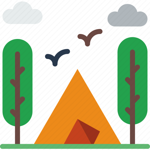camping, holiday, seaside, travel, vacation icon