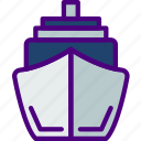 cruise, holiday, seaside, ship, travel, vacation icon