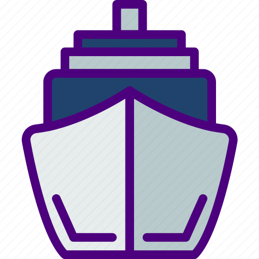cruise, holiday, seaside, ship, travel, vacation icon