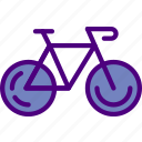 bicyle, holiday, seaside, travel, vacation icon