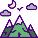 holiday, mountainside, seaside, travel, vacation icon