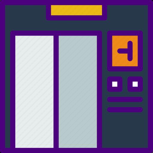 elevator, holiday, seaside, travel, vacation icon