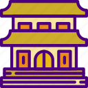 buddhist, holiday, seaside, temple, travel, vacation icon