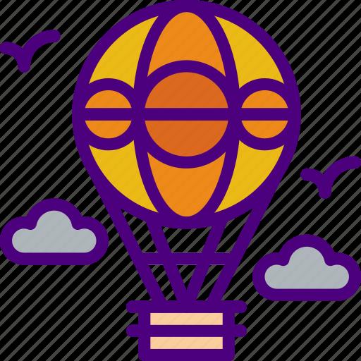 air, balloon, holiday, seaside, travel, vacation icon