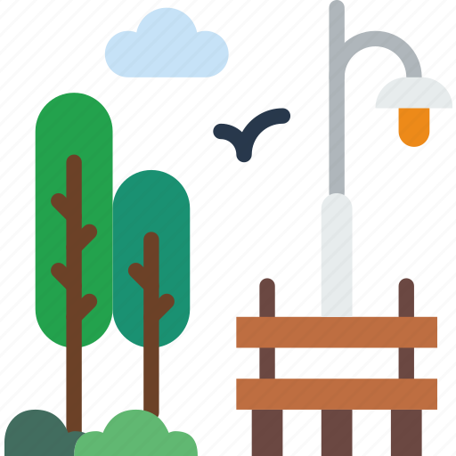 building, city, park, street, urban icon